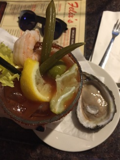 Bloody Mary and Oysters at Felix's New Orleans