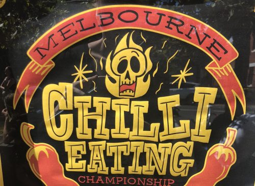 Melbourne Chilli Eating Championships at the B.East