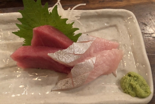 Red Tuna and Sea Bream Sashimi Gonpachi