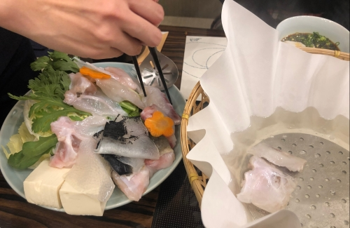 Japanese puffer fish Fugu