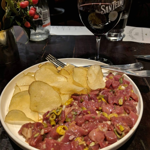 Wallaby tartare at San Telmo
