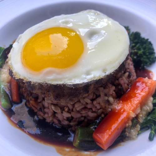 Loco Moco Hawaiian Food